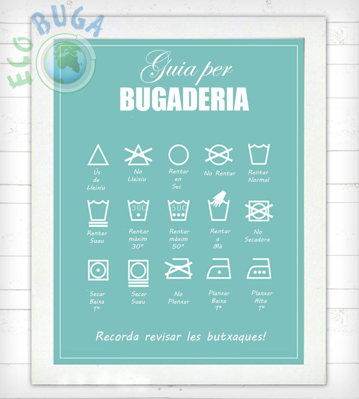 simbols rentar roba etiquetes