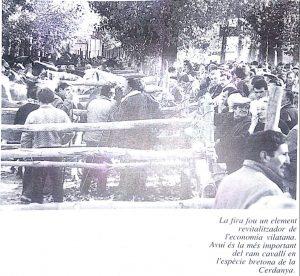 fotografia de la fira del cavall de puigcerdà